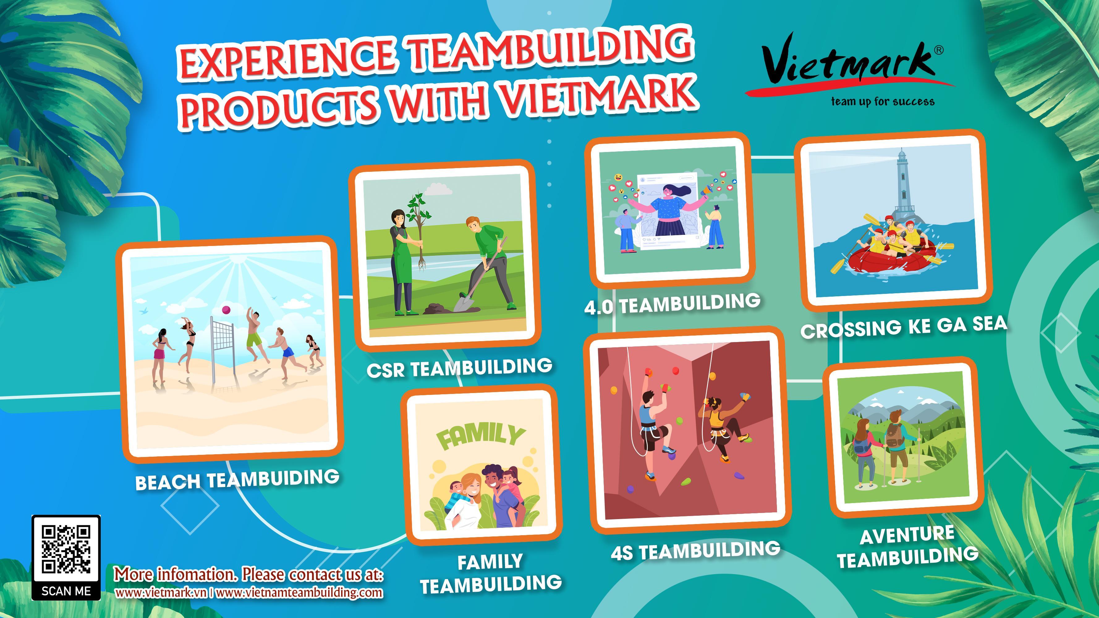 Trải nghiệm sản phẩm teambuilding năng động cùng VietMark